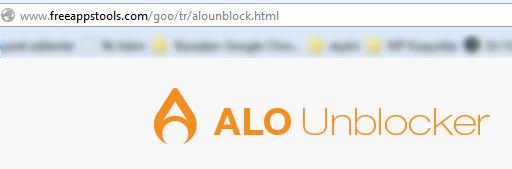 Alo Unblocker hatası