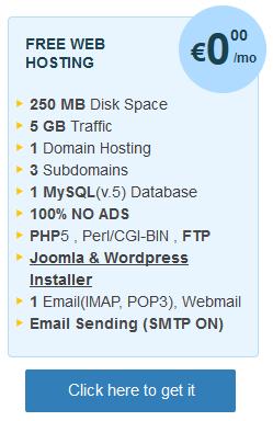 Ücretsiz ve reklamsız web hosting