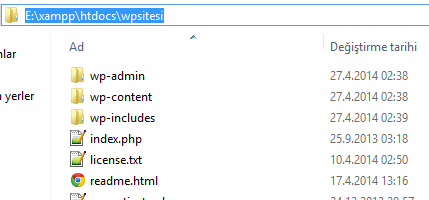 WordPress dosyalarını çıkarma