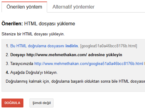 google-site-ekleme-dogrulama