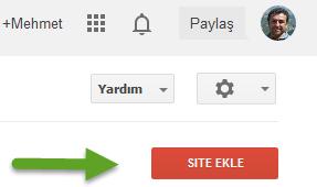 google-site-ekleme