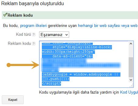 google-adsense-reklam-kod