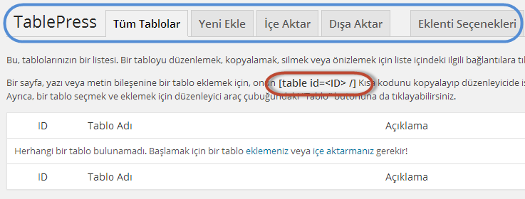 tablePress-menu