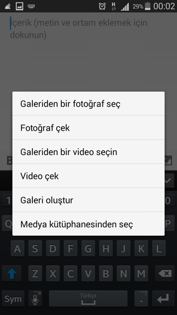 wordpress-android-foto-ekleme