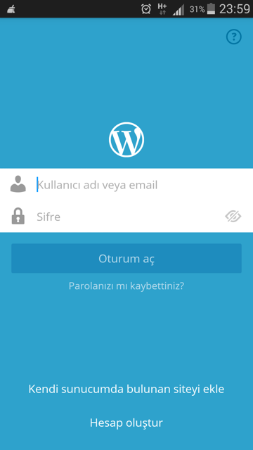 wordpress-android-giris