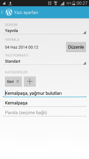 wordpress-android-yazi-ayar