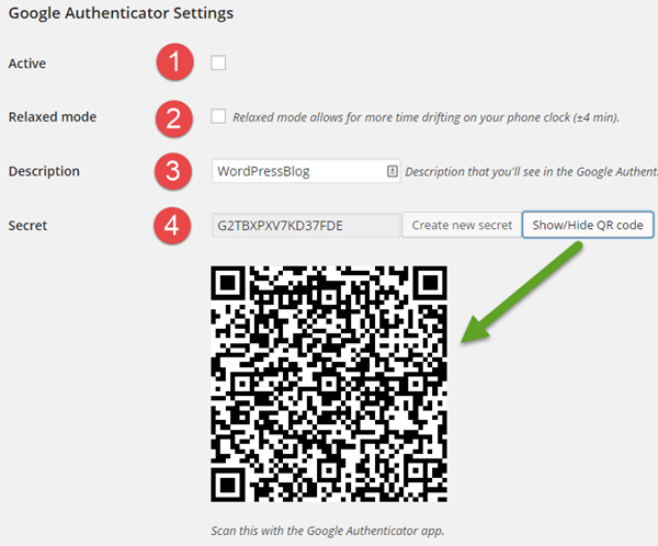 google-authenticator-ayarlar