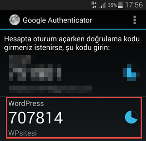 google-authenticator-telefon-gorunumu