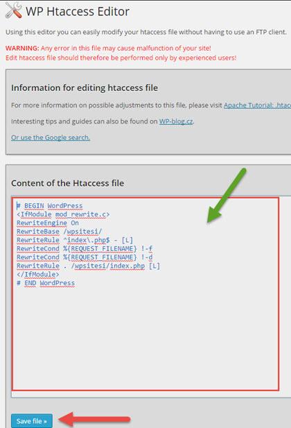 htaccess-editor-sayfasi