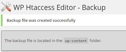 htaccess-editor-yedekleme-sonuc
